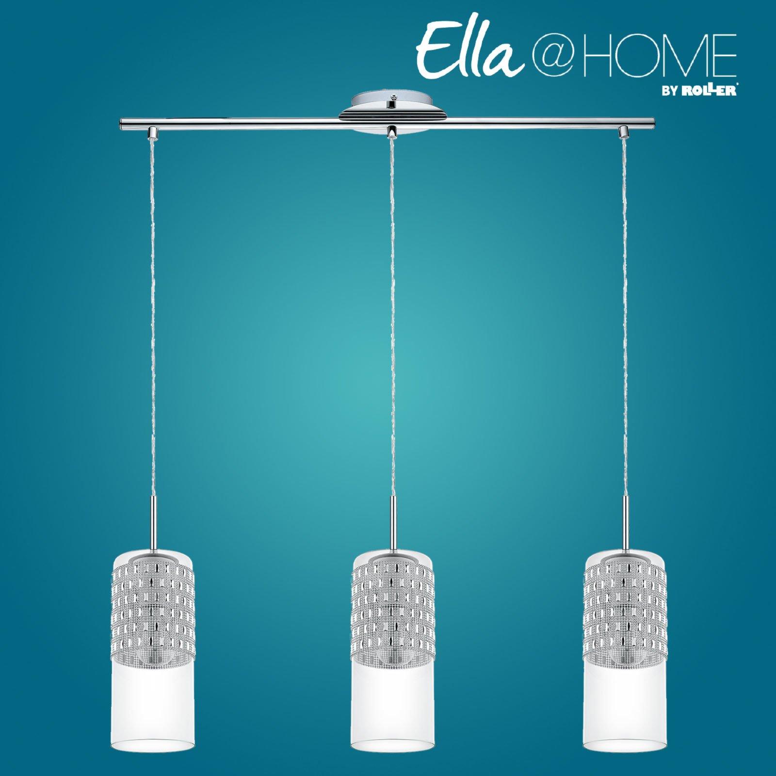 pendelleuchte senzana chrom glas 3 flammig ella. Black Bedroom Furniture Sets. Home Design Ideas
