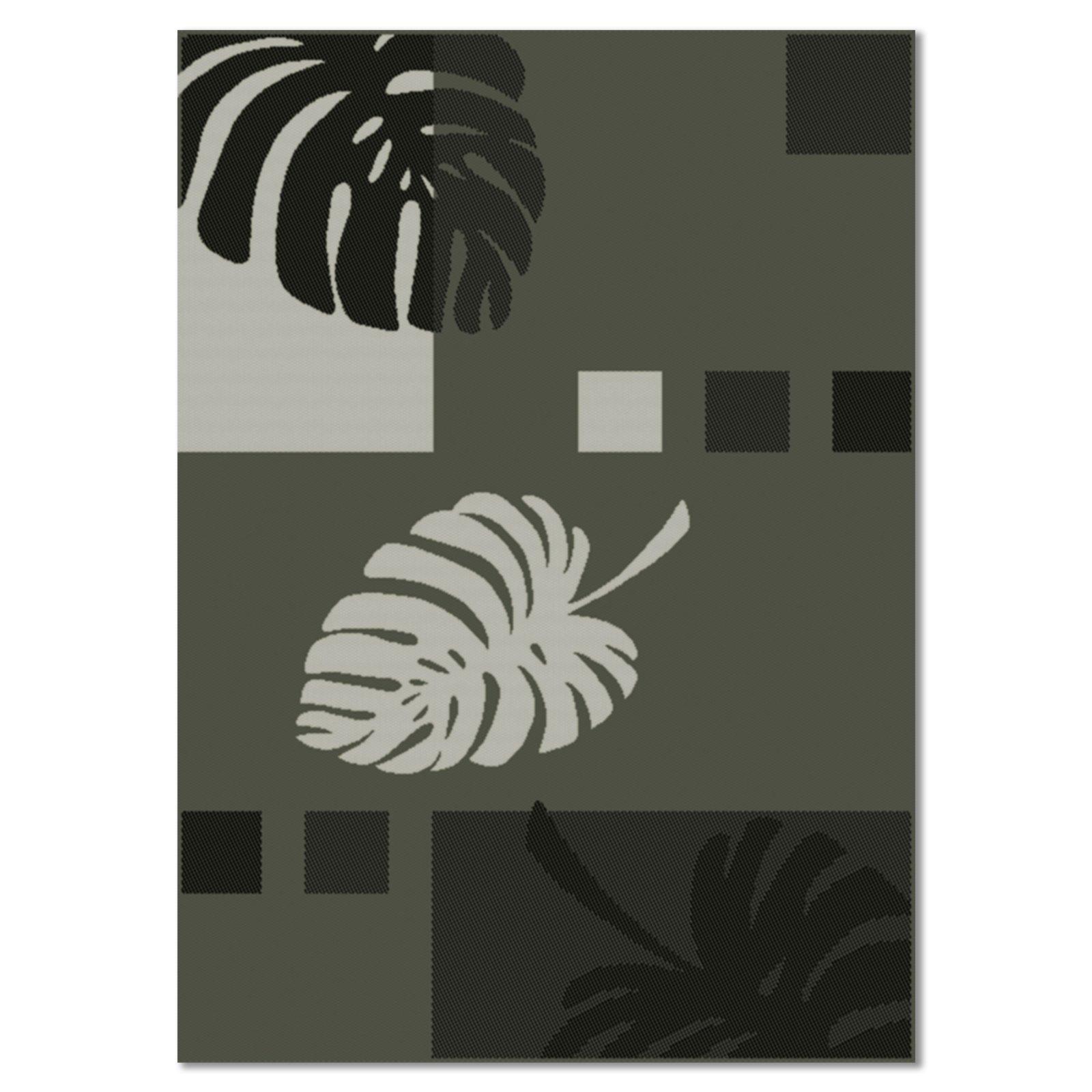 Teppich OSLO  grau  Blätterdekor  160×230 cm