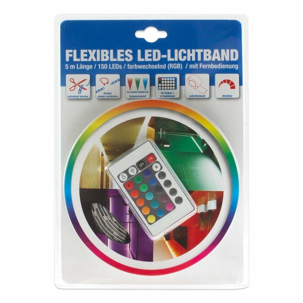 led lichtband farbwechsler mit fernbedienung 5 meter. Black Bedroom Furniture Sets. Home Design Ideas