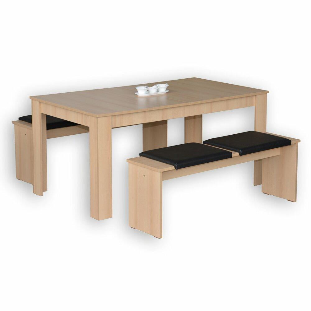 tischgruppe jazz buche 3 teilig sitzb nke. Black Bedroom Furniture Sets. Home Design Ideas