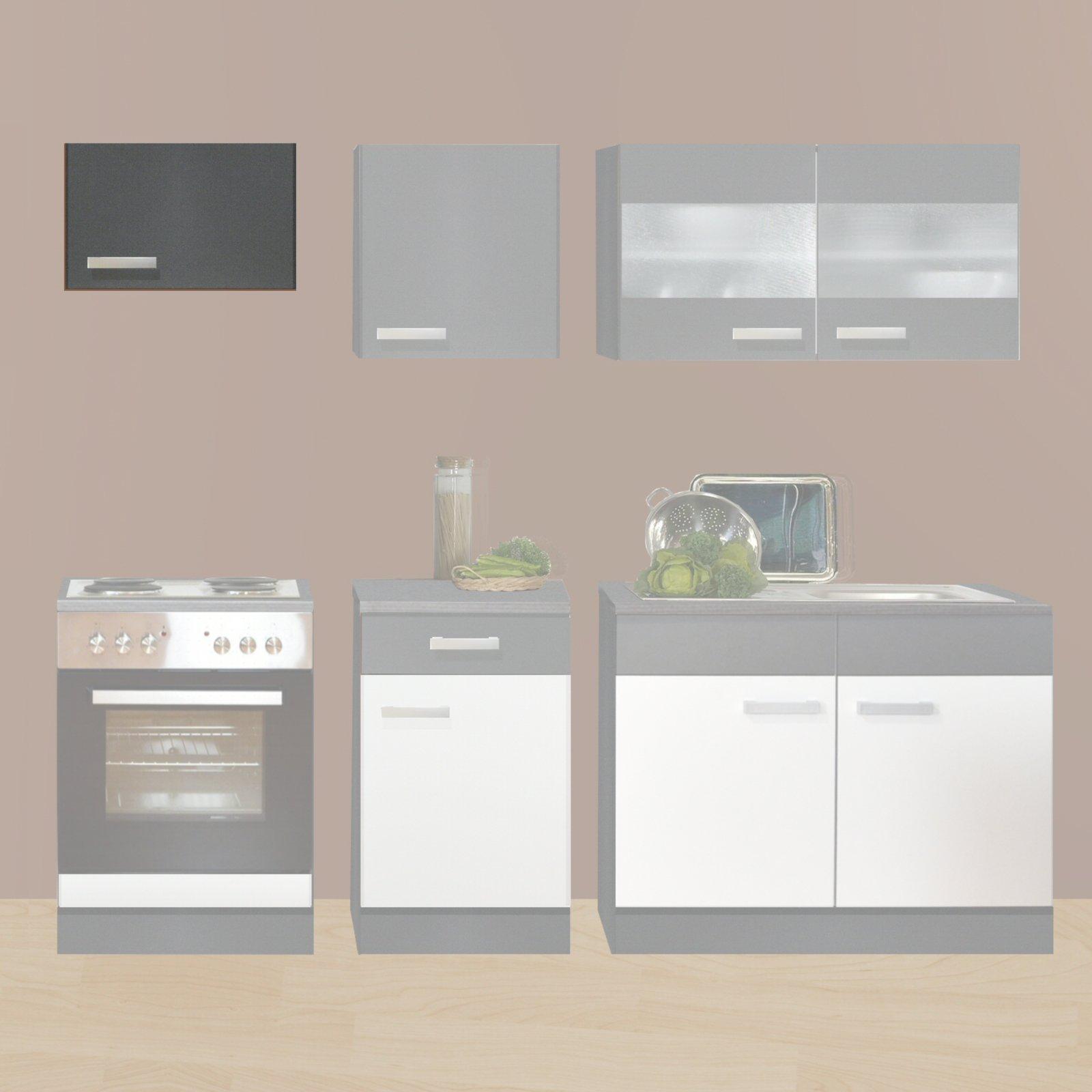 Wrasenhanger greta graphit 60x37 cm kuche greta for Einzelschr nke küche