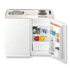 AuBergewohnlich Singleküche   Weiß   Mit Kühlschrank   100 Cm Breite