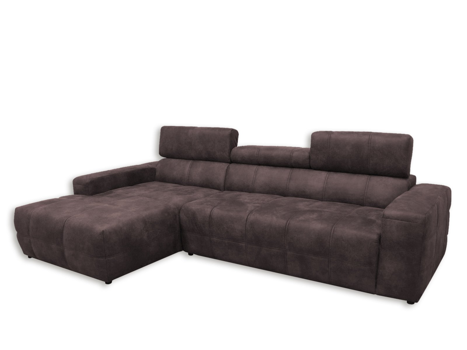 ecksofa dunkelbraun recamiere links mit kopfteilverstellung ecksofas l form sofas. Black Bedroom Furniture Sets. Home Design Ideas