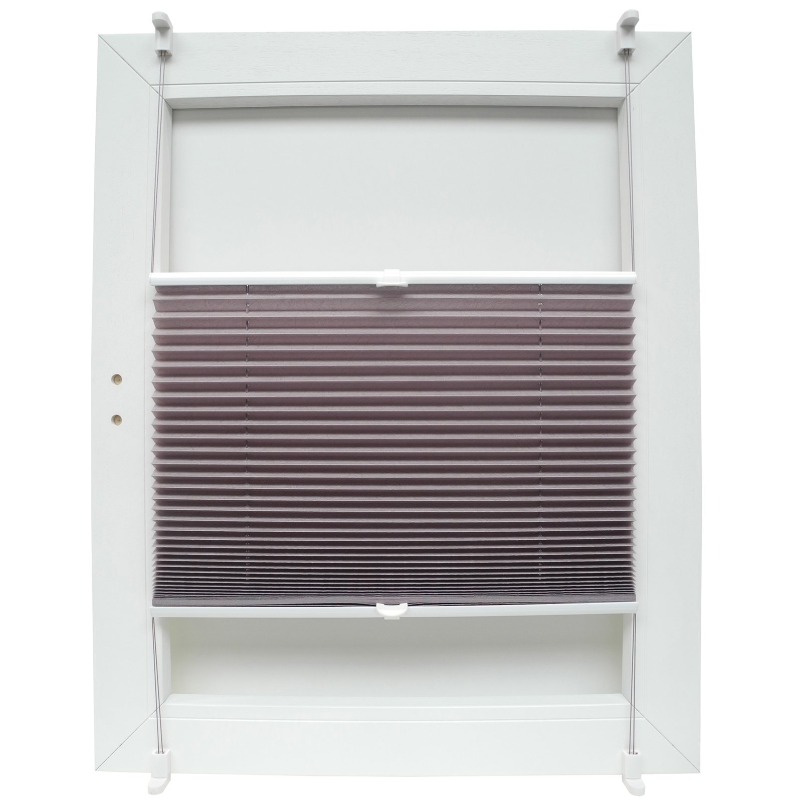 plissee sahara mauve 110x130 cm plissees rollos jalousien deko haushalt roller. Black Bedroom Furniture Sets. Home Design Ideas