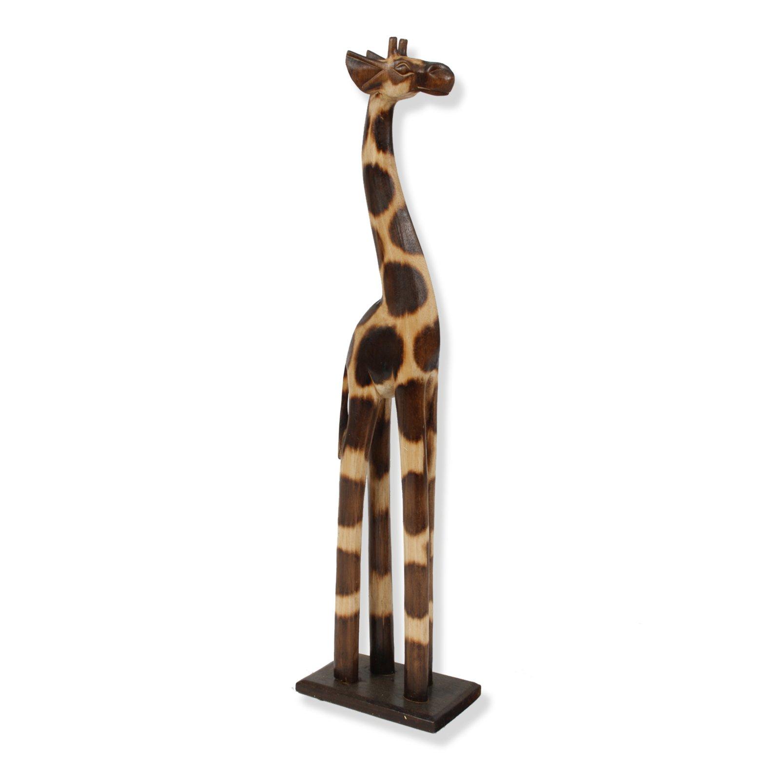 deko wohnzimmer braun:Deko-Giraffe – braun – Holz – 61 cm