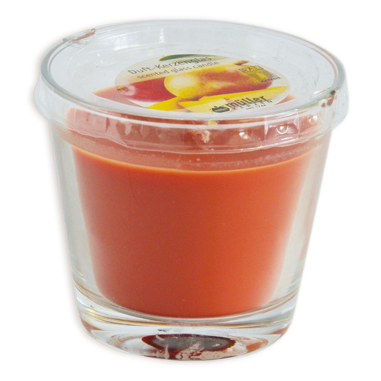 Duftkerze - Mango - im Glas - Ø 9 cm