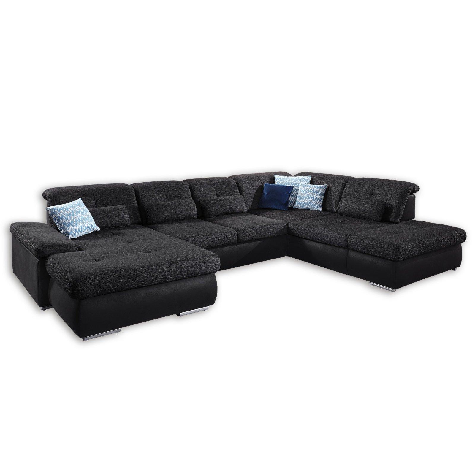 Verschiedene Sofa Sitztiefenverstellung Beste Wahl Wohnlandschaft - Anthrazit-schwarz -