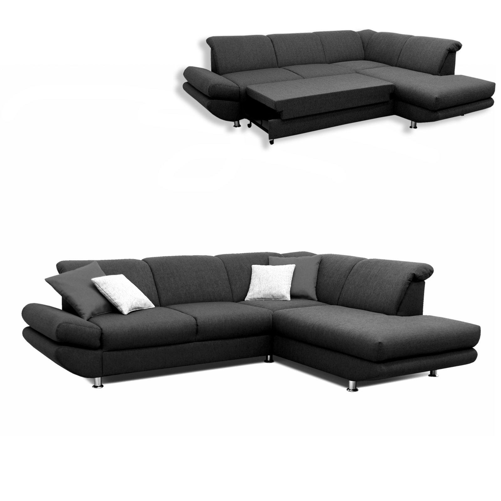 polsterecke anthrazit liegefunktion ottomane rechts ecksofas l form sofas couches. Black Bedroom Furniture Sets. Home Design Ideas