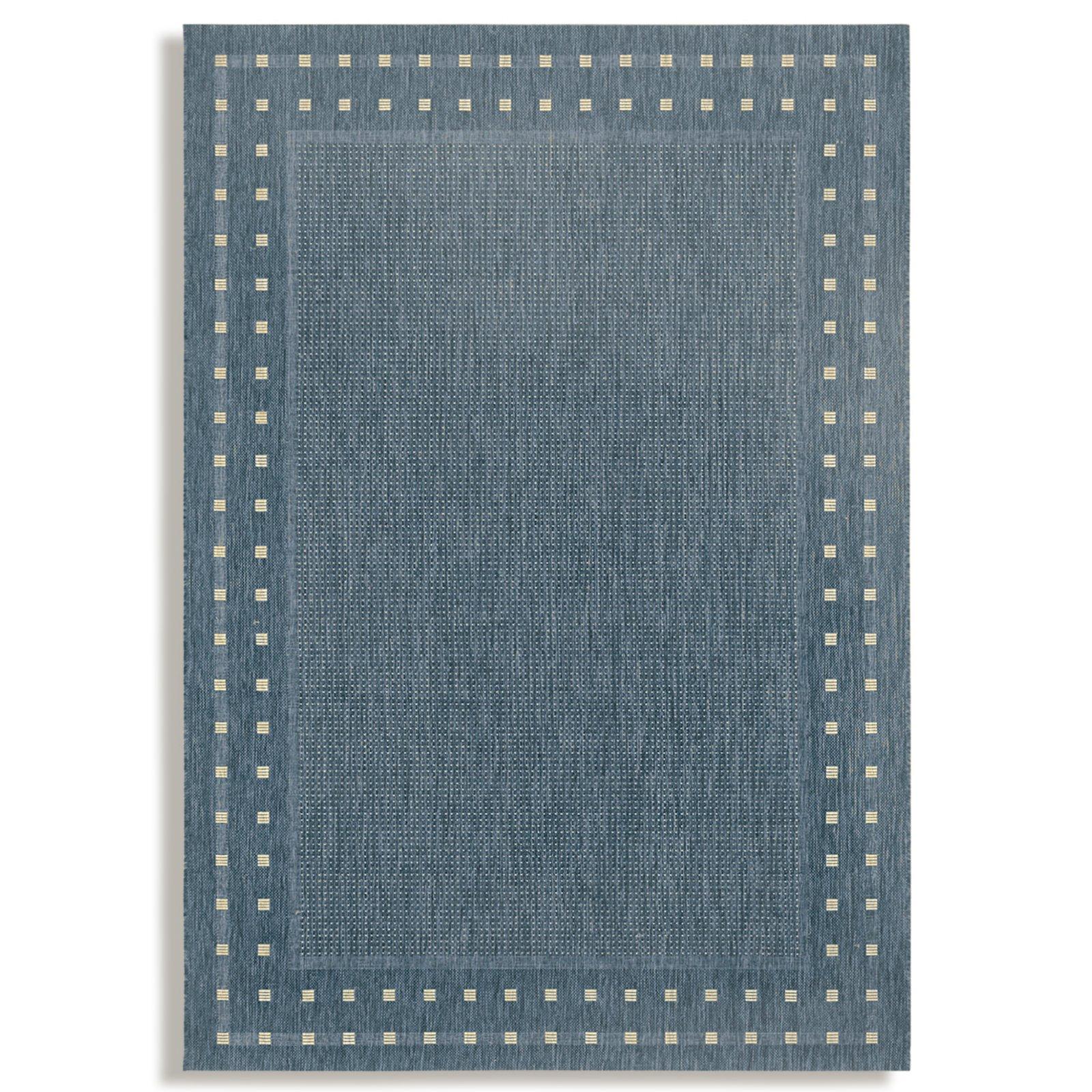 Teppich OSLO  blaugrau  80×340 cm  Gemusterte Teppiche