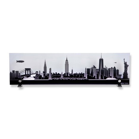 Leuchte SKYLINE - New York - Glas - anthrazit