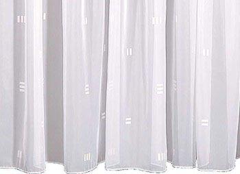 Fertigschal - weiß - mit Webmotiv - 145x450 cm