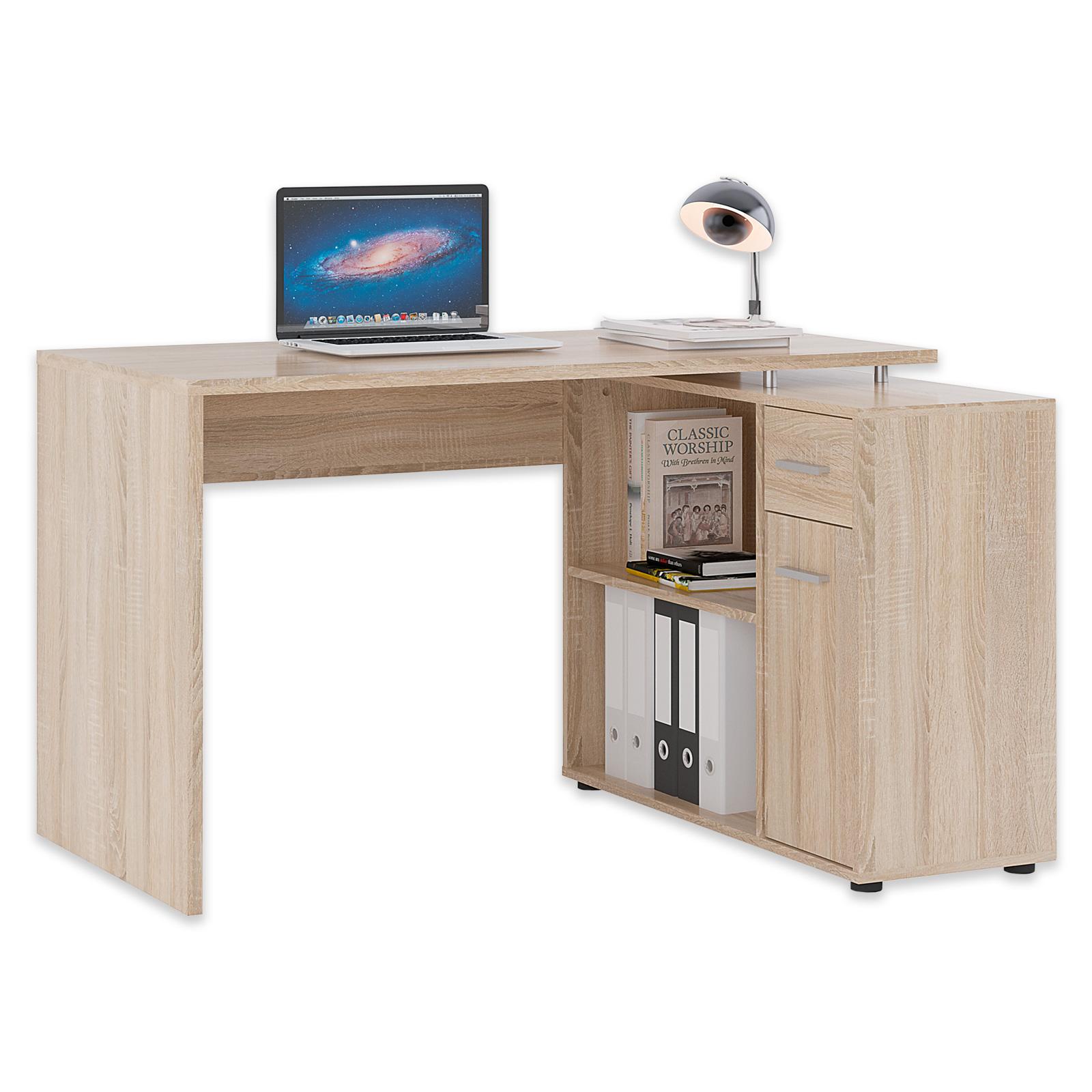Schreibtisch Sonoma Eiche 120 Cm Breit Online Bei Roller Kaufen