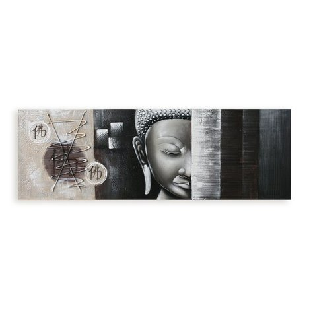 lgem lde buddha handgefertigt 50x150 cm bilder gem lde deko wohnaccessoires. Black Bedroom Furniture Sets. Home Design Ideas