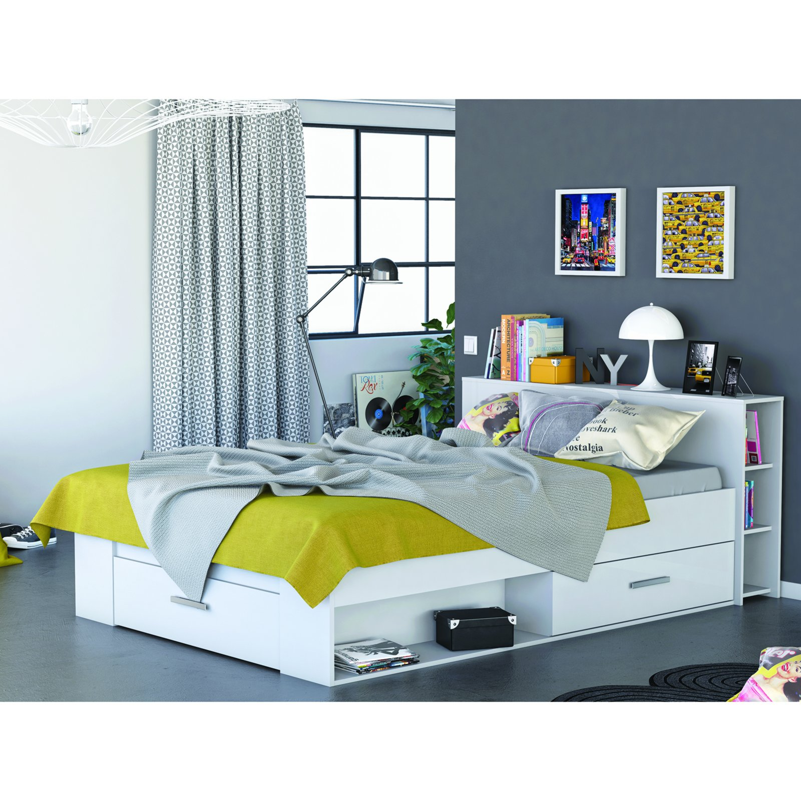 roller jugendbett funktionsbett pocket wei 140x200 cm eur 179 99 picclick de. Black Bedroom Furniture Sets. Home Design Ideas