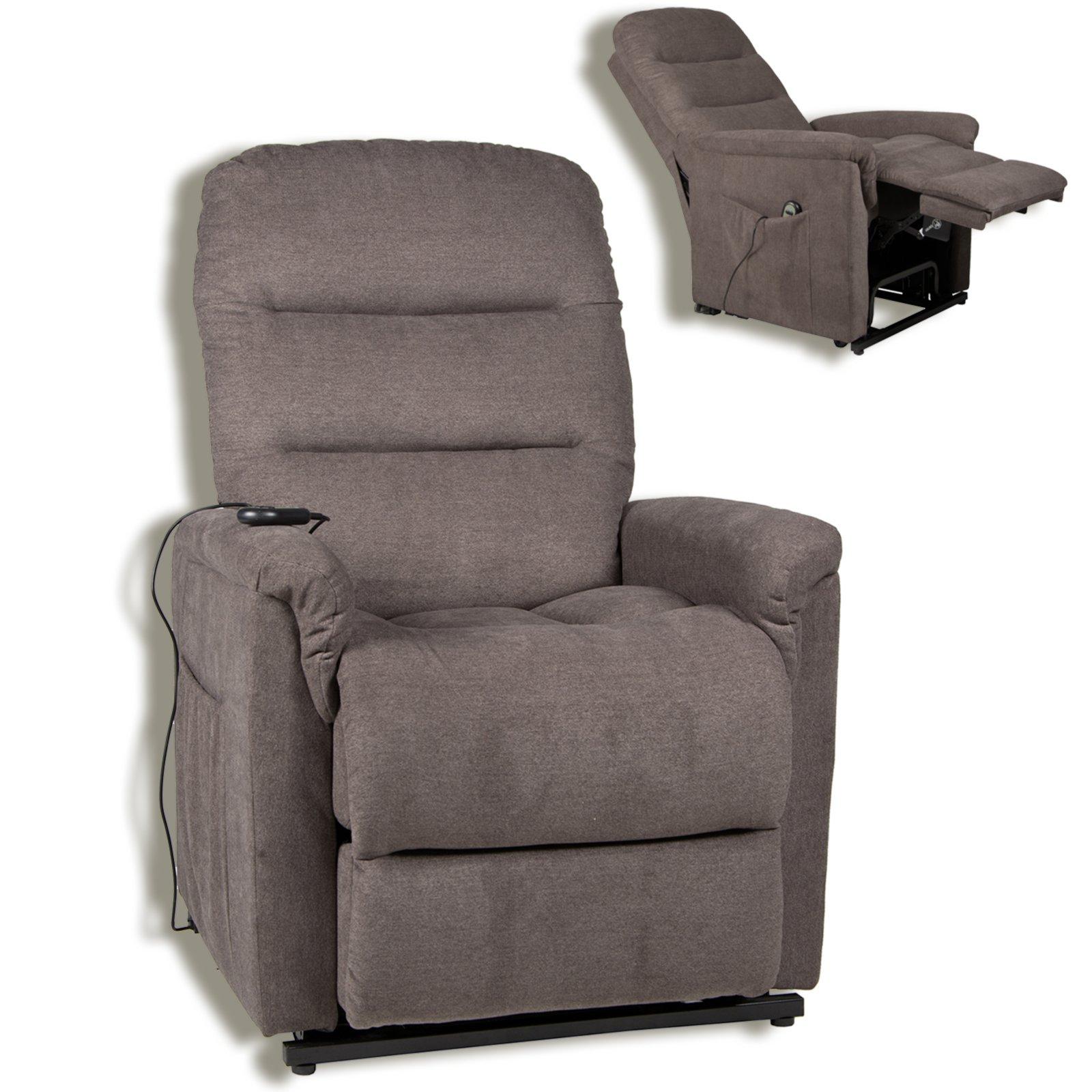 tv sessel graubraun mit motor und aufstehhilfe fernseh relaxsessel sessel hocker. Black Bedroom Furniture Sets. Home Design Ideas