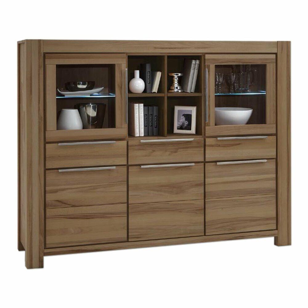 highboard nena wildeiche natur ge lt massiv 175 cm breit kommoden sideboards m bel. Black Bedroom Furniture Sets. Home Design Ideas