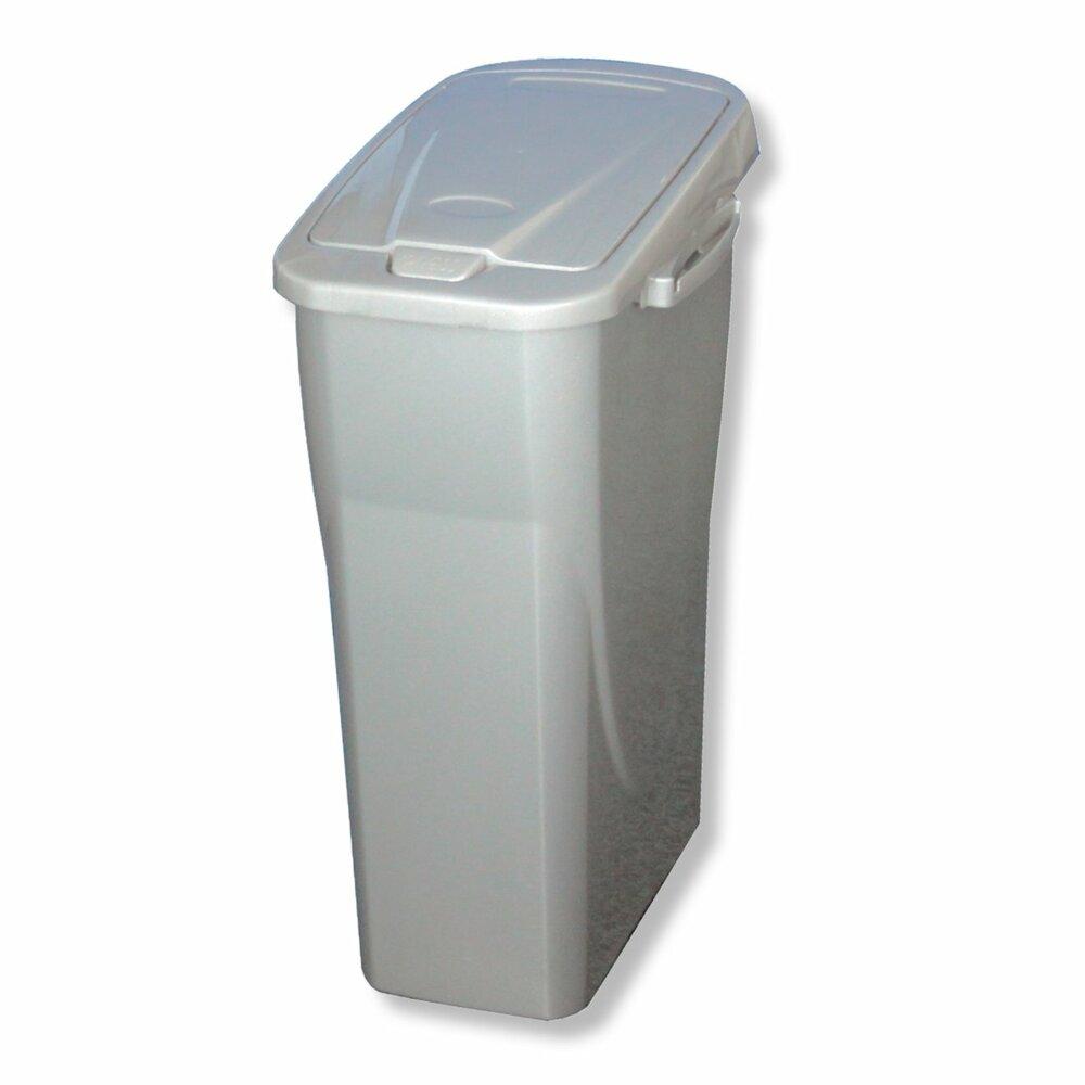 m lleimer ecobin silber 25 liter m lleimer haushalts k chenzubeh r deko haushalt. Black Bedroom Furniture Sets. Home Design Ideas