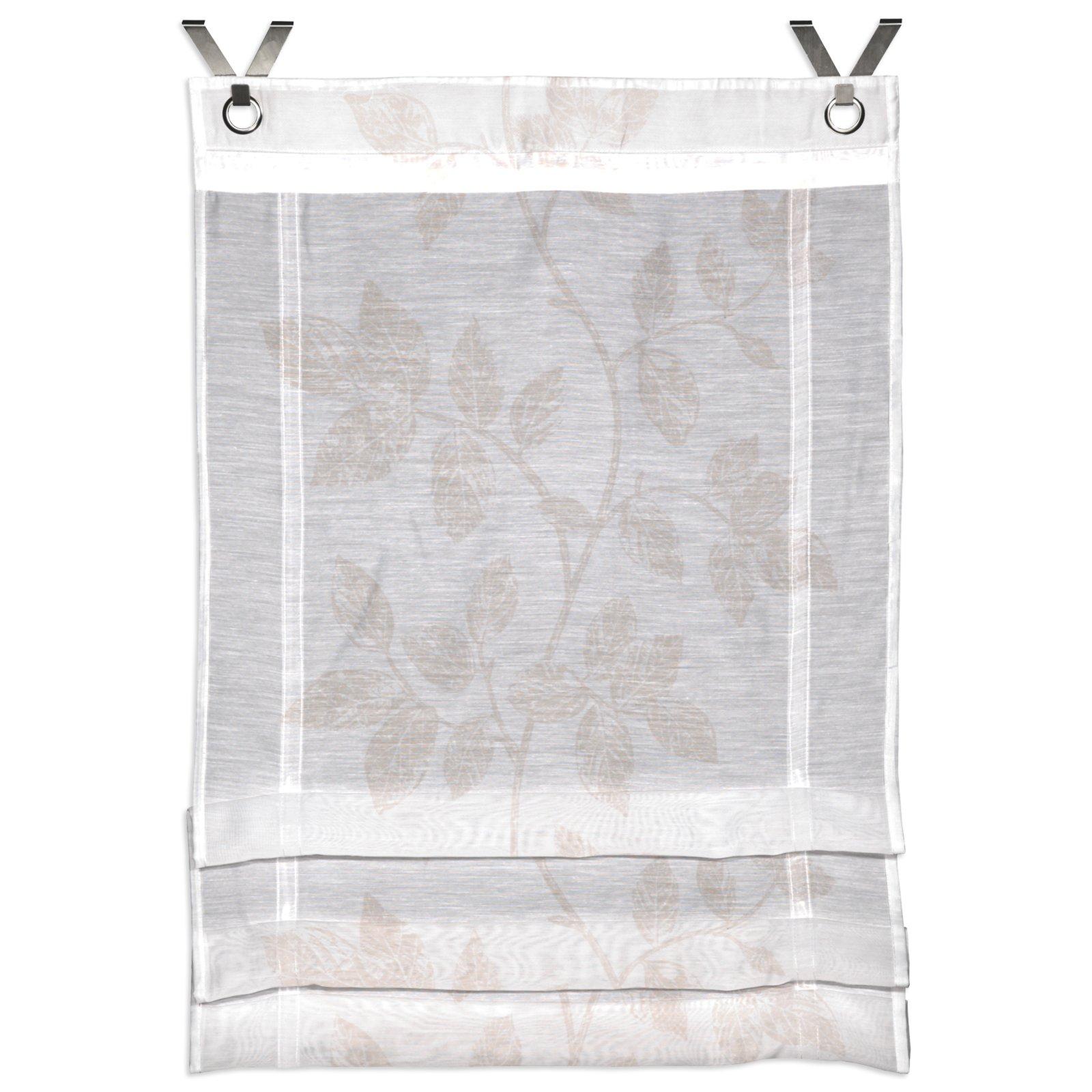 klipprollo alaska wei beige mit sen 60x120 cm transparente raffrollos raffrollos. Black Bedroom Furniture Sets. Home Design Ideas
