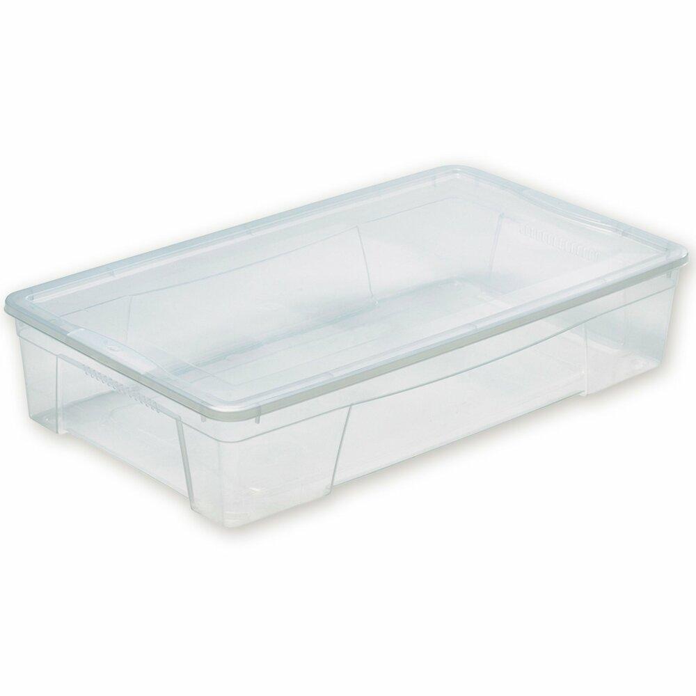 aufbewahrungsbox transparent 34 liter kunststoffboxen boxen k rbe deko haushalt. Black Bedroom Furniture Sets. Home Design Ideas