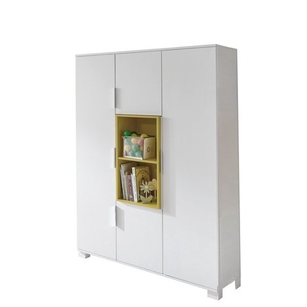 kinderkleiderschrank joris wei babyzimmer joris. Black Bedroom Furniture Sets. Home Design Ideas