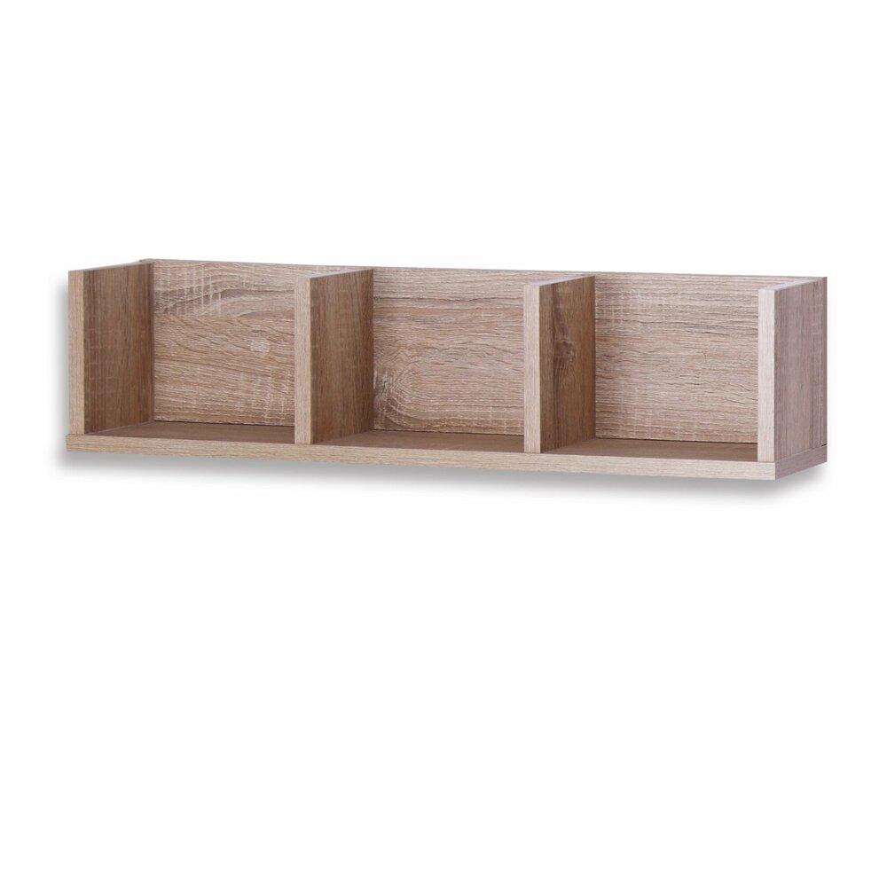 wandregal eiche sonoma 3 f cher 69 cm wandregale. Black Bedroom Furniture Sets. Home Design Ideas
