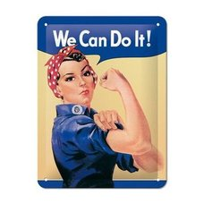 Vintage-Blechschild - We can do it - Metall - 15x20 cm