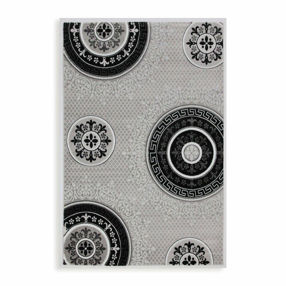 teppich eleysa silber 160x230 cm gemusterte teppiche teppiche l ufer deko haushalt. Black Bedroom Furniture Sets. Home Design Ideas