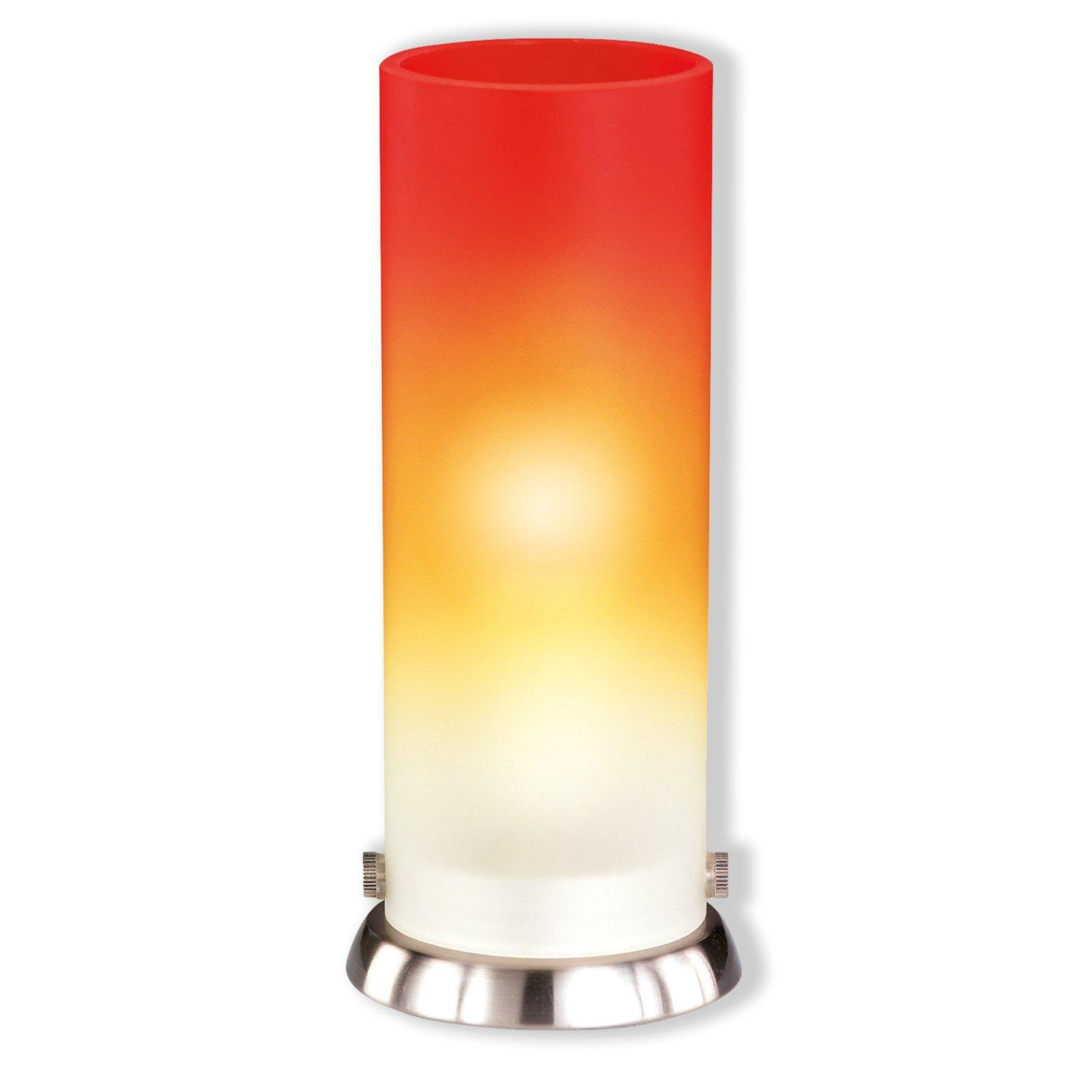 tischlampe pipe glas orange tischlampen lampen. Black Bedroom Furniture Sets. Home Design Ideas