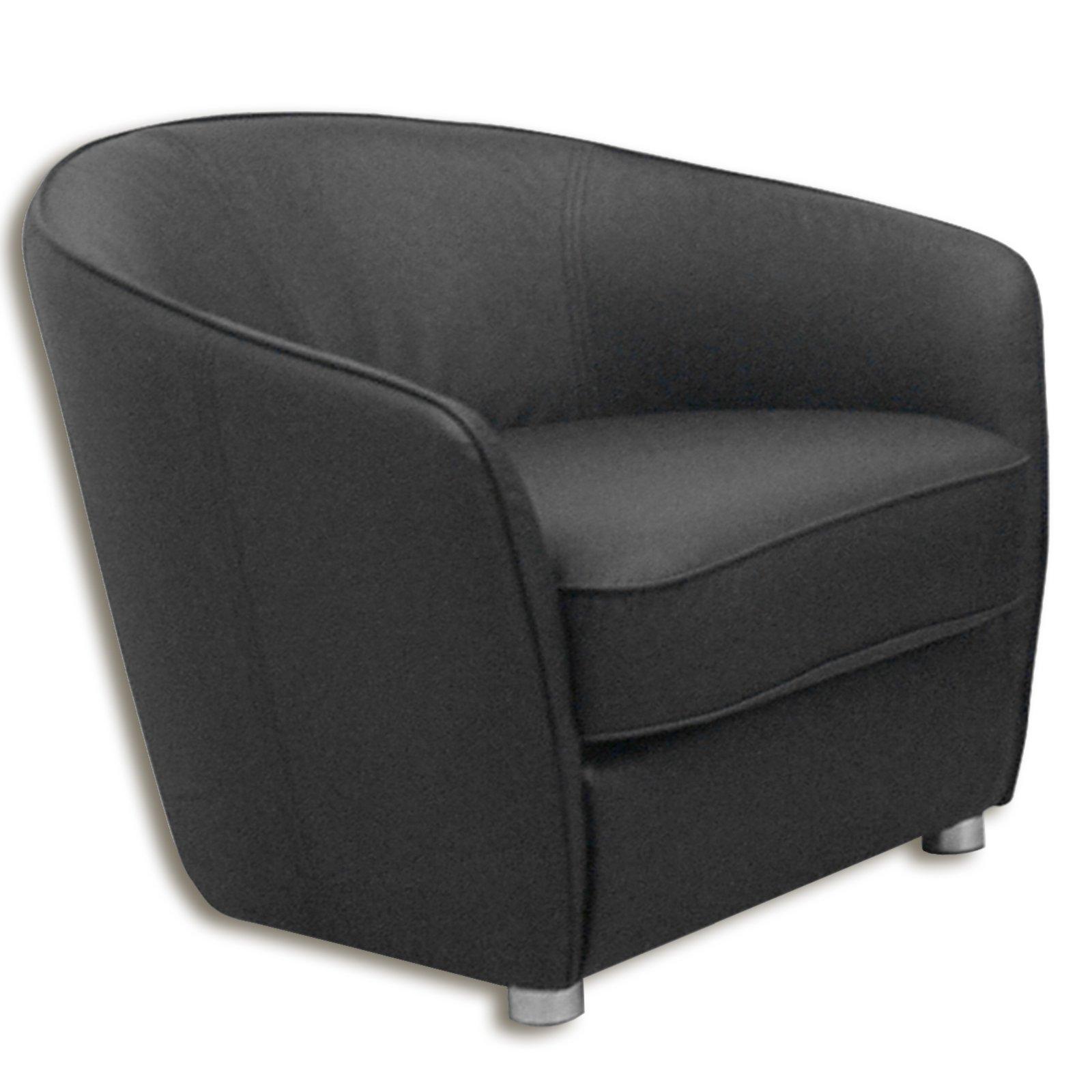 sessel schlamm grau kunstleder cocktailsessel. Black Bedroom Furniture Sets. Home Design Ideas