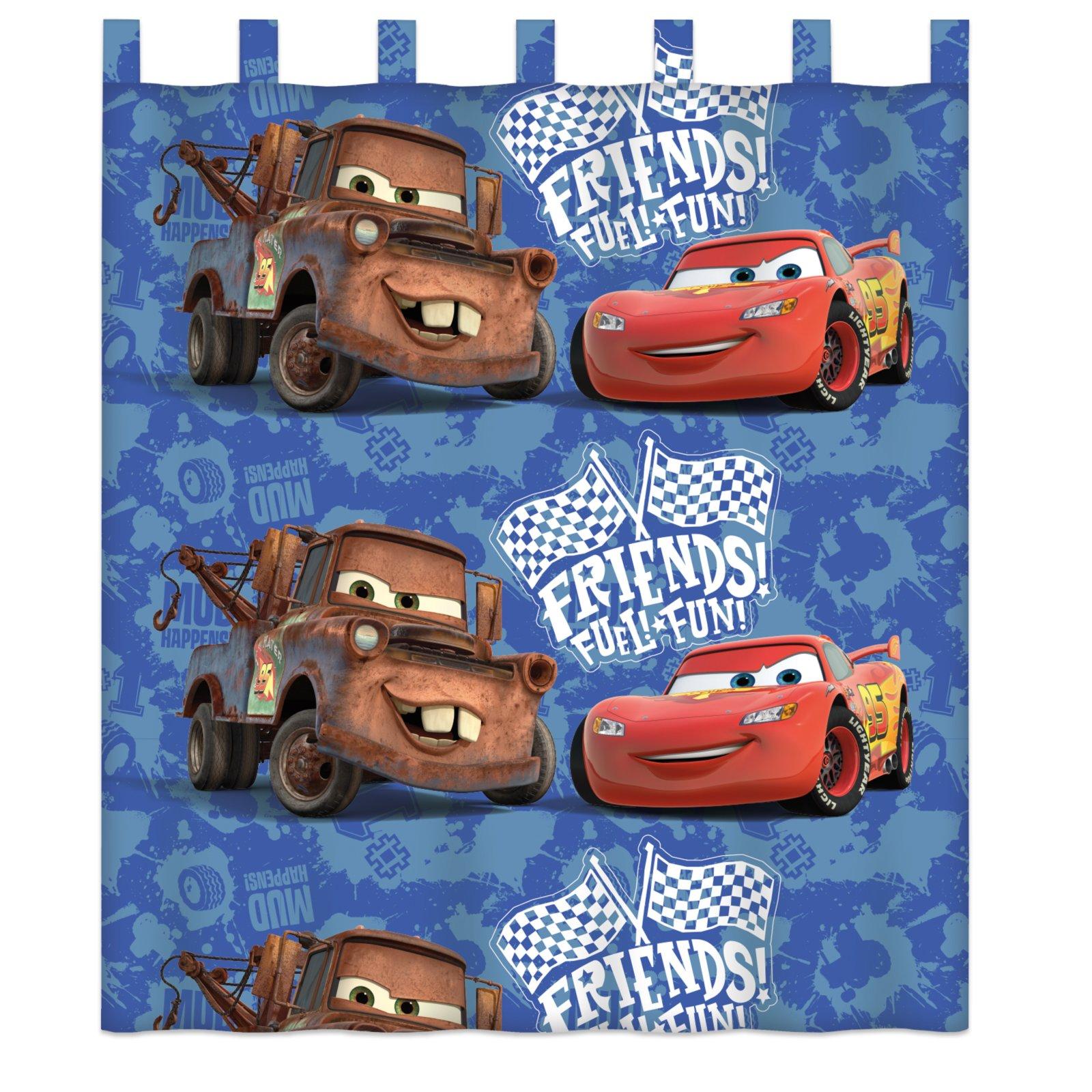 Schlaufenschal cars blau 140x160 cm kindergardinen for Schlaufenschal kinder