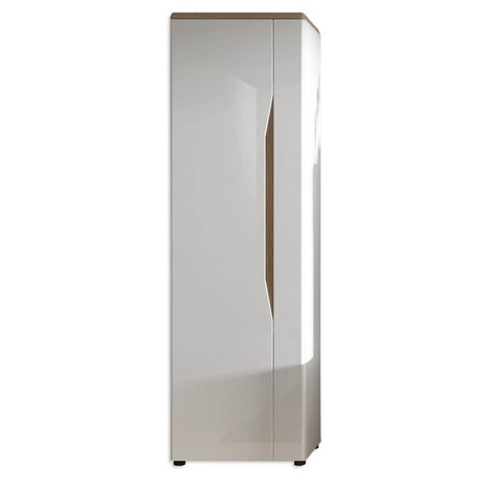 highboard malaga wei hochglanz alteiche 59 cm breit wohnwand malaga wohnwand programme. Black Bedroom Furniture Sets. Home Design Ideas