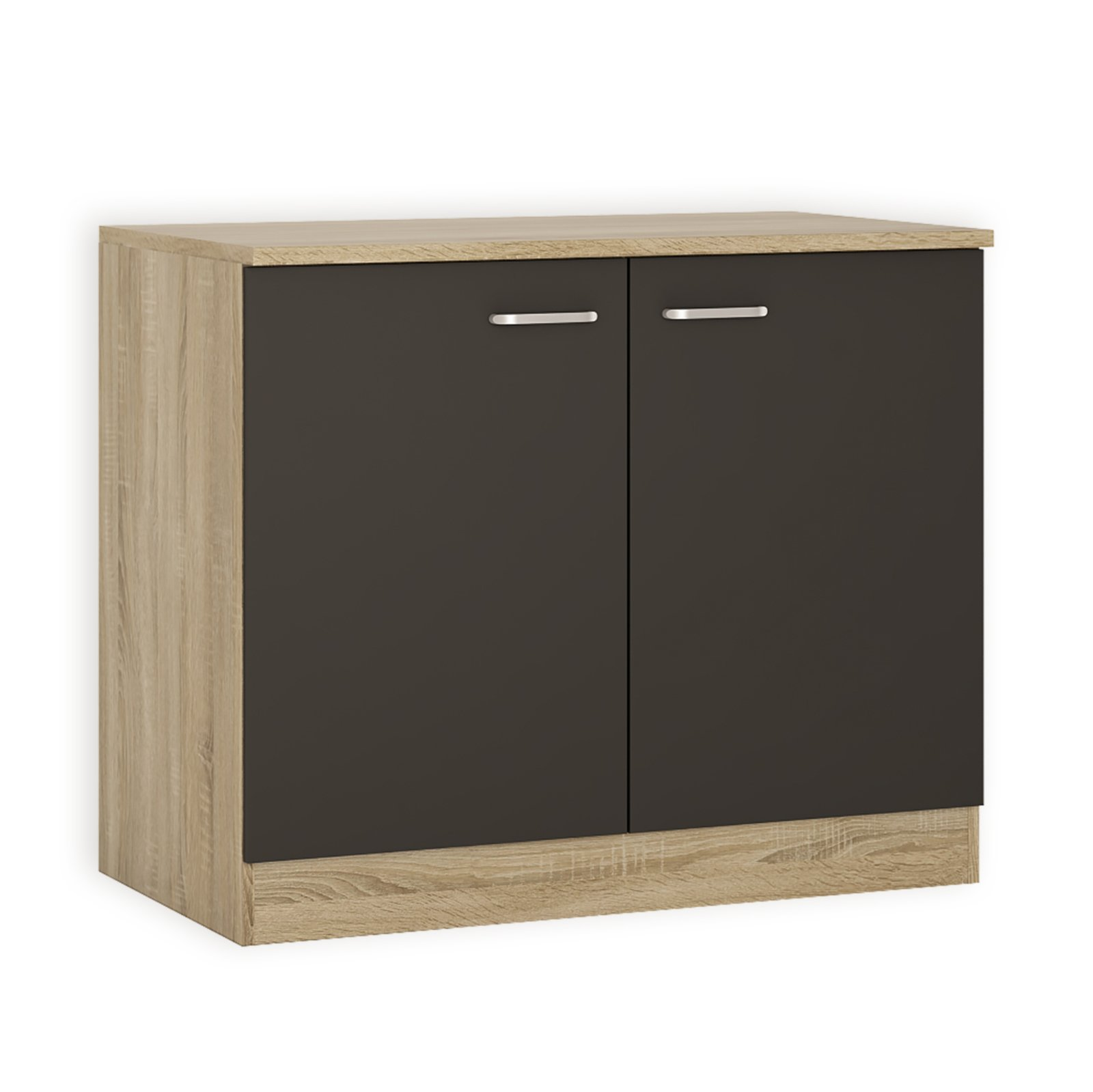 sp lenunterschrank fox anthrazit sonoma eiche 100 cm. Black Bedroom Furniture Sets. Home Design Ideas