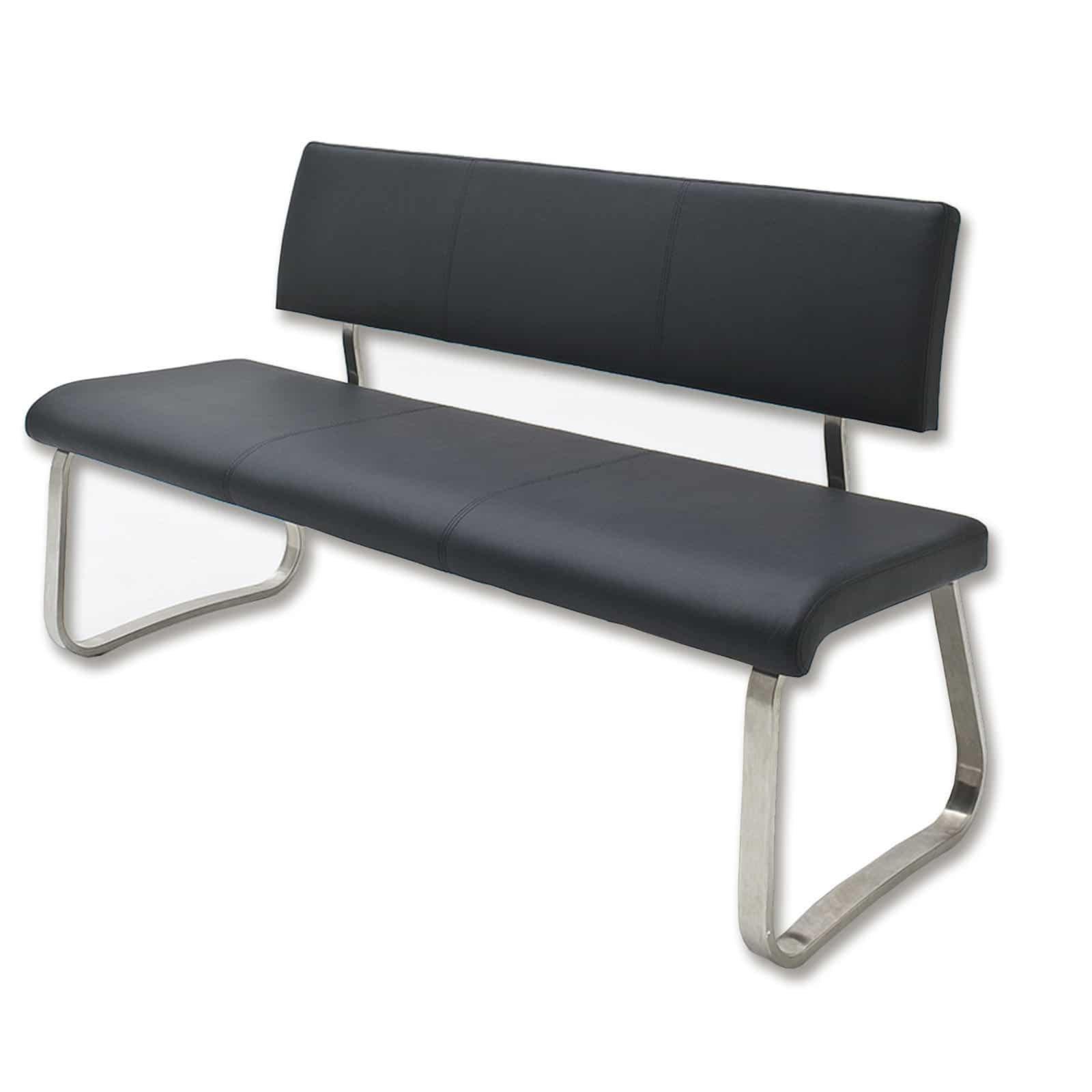 bank arco schwarz kunstleder 155 cm sitzb nke b nke m bel roller m belhaus. Black Bedroom Furniture Sets. Home Design Ideas
