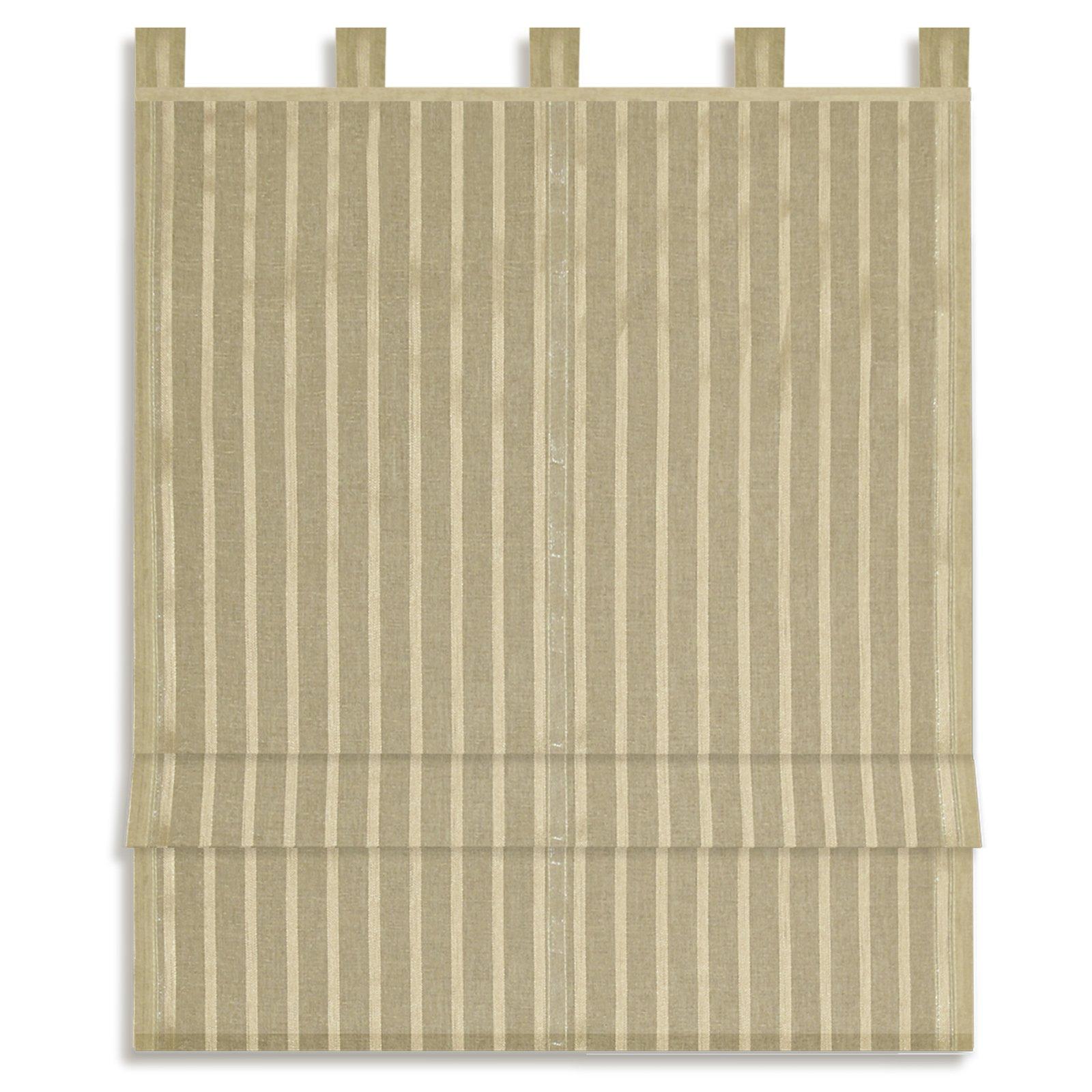 raffrollo bella taupe 60x140 cm sichtschutz raffrollos raffrollos rollos jalousien. Black Bedroom Furniture Sets. Home Design Ideas
