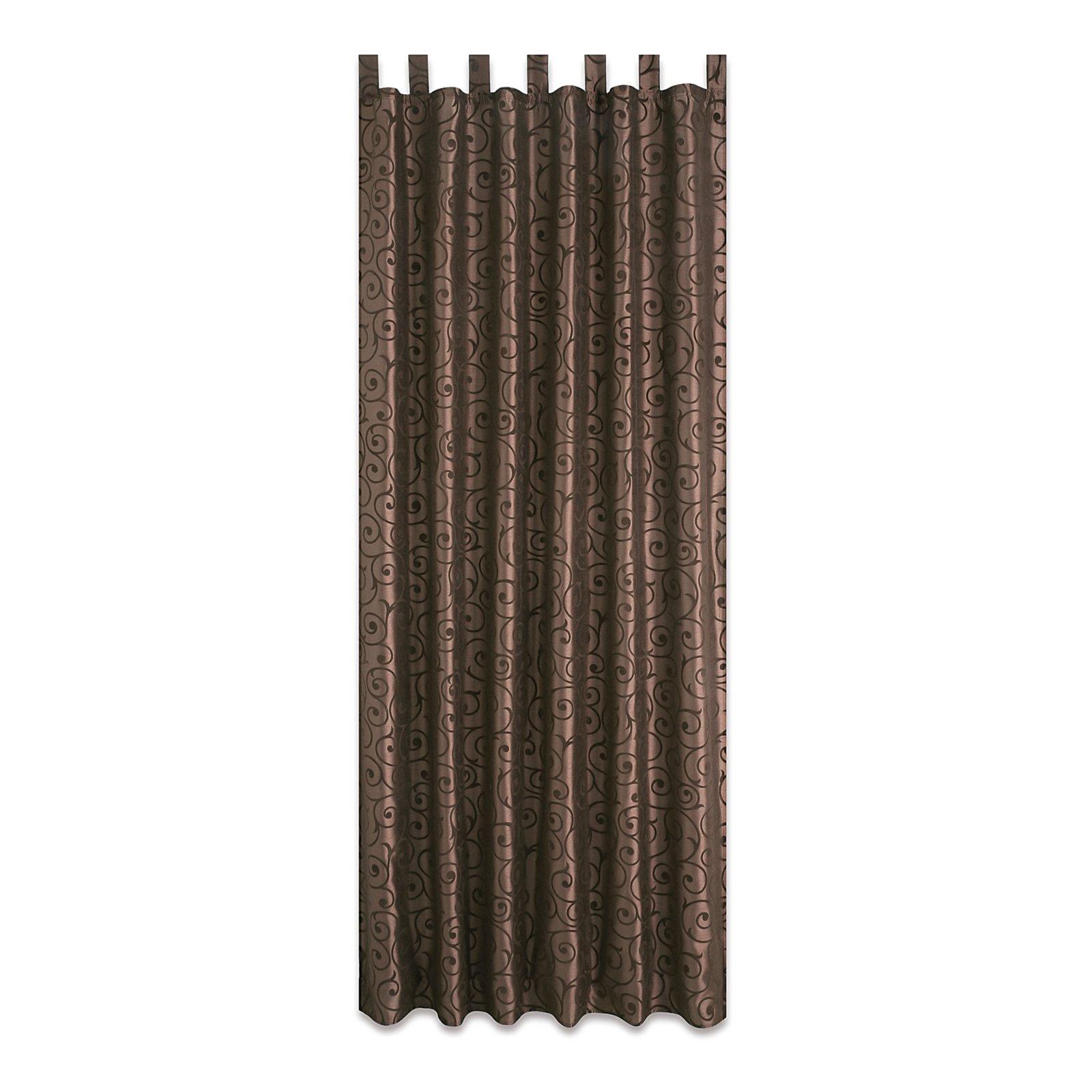 schlaufenschal elegance braun 140x235 cm - Braun Gardinen