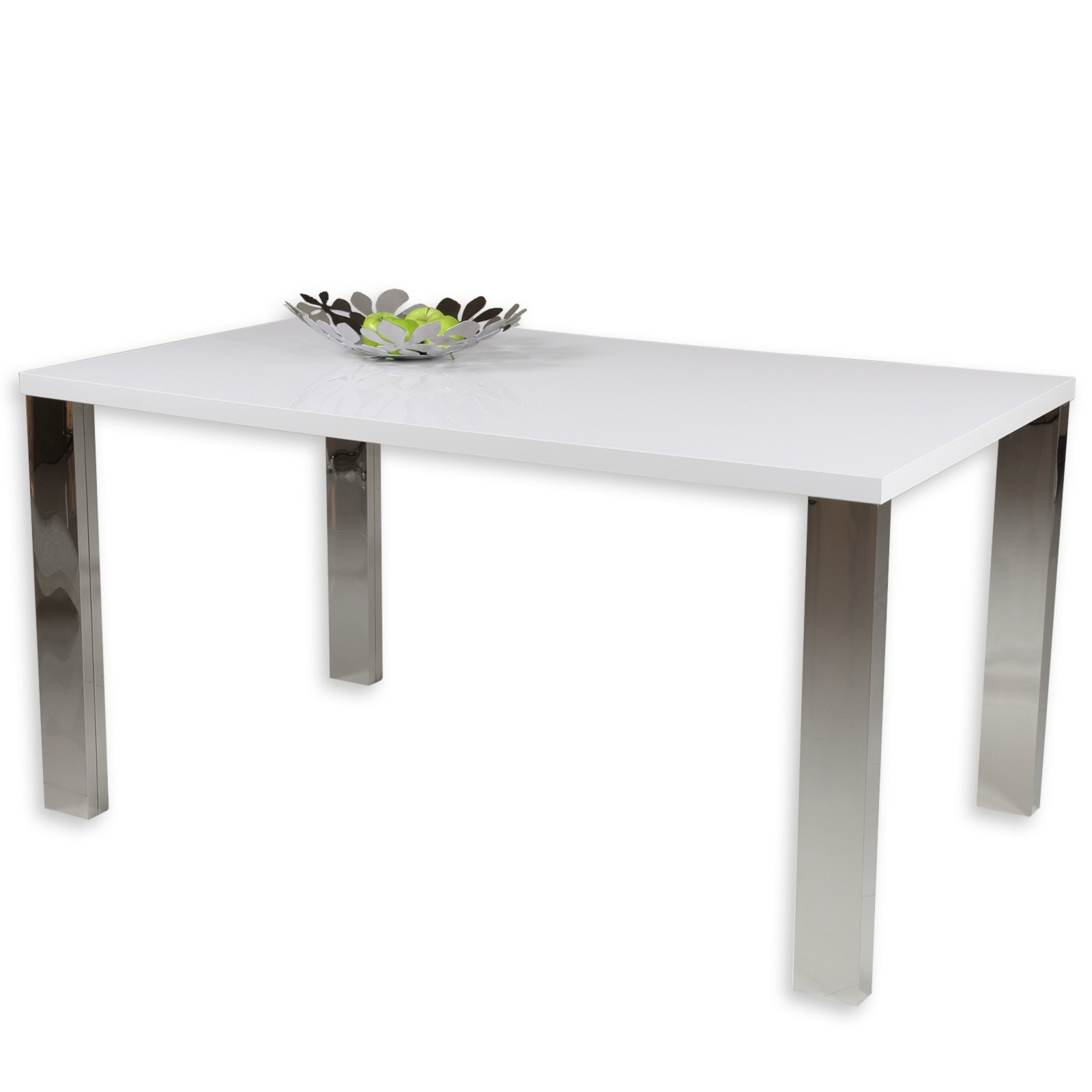 tisch ella - weiß-chrom - 150x90 cm | esstische | sitzen & essen, Esstisch ideennn