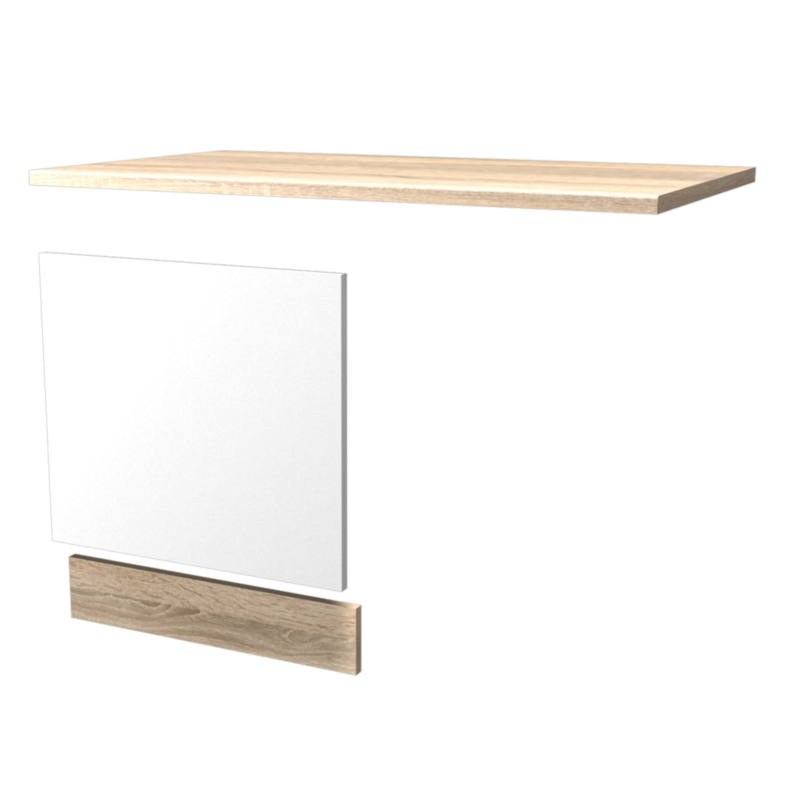 geschirrsp ler umbau samoa sonoma eiche 110 cm umbauschr nke einzelschr nke. Black Bedroom Furniture Sets. Home Design Ideas