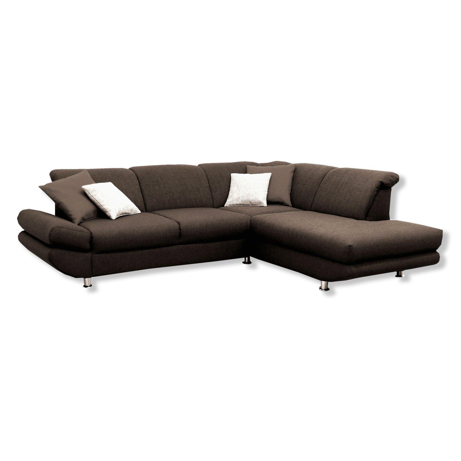 polsterecke braun mit funktionen ottomane rechts ecksofas l form sofas couches. Black Bedroom Furniture Sets. Home Design Ideas