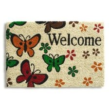 Kokos-Fußmatte WELCOME BUTTERFLY - 40x60 cm
