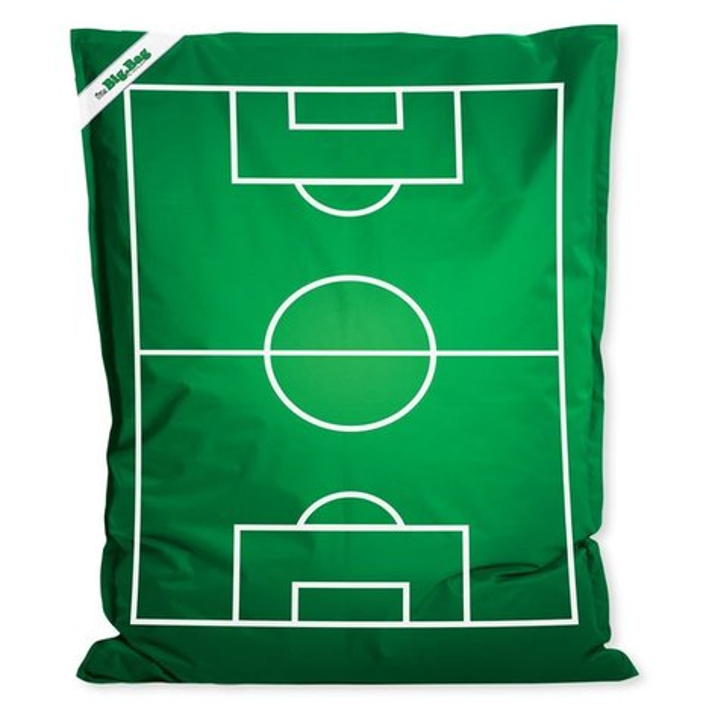 sitzsack little big bag soccer gr n wei 129x95 cm sitzs cke kinder jugendzimmer. Black Bedroom Furniture Sets. Home Design Ideas