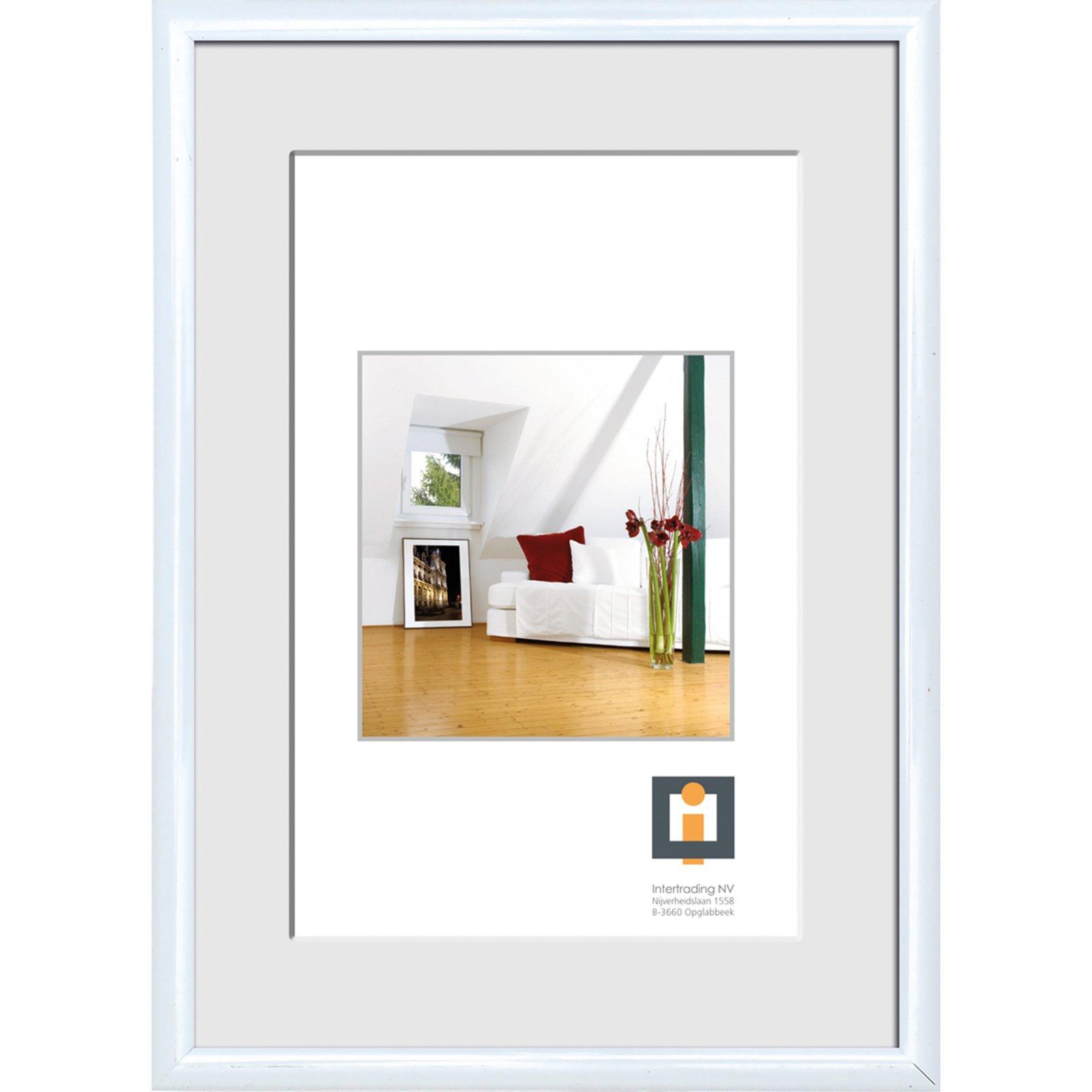 bilderrahmen wei kunststoff 50x70 cm bilderrahmen deko wohnaccessoires wohnzimmer. Black Bedroom Furniture Sets. Home Design Ideas