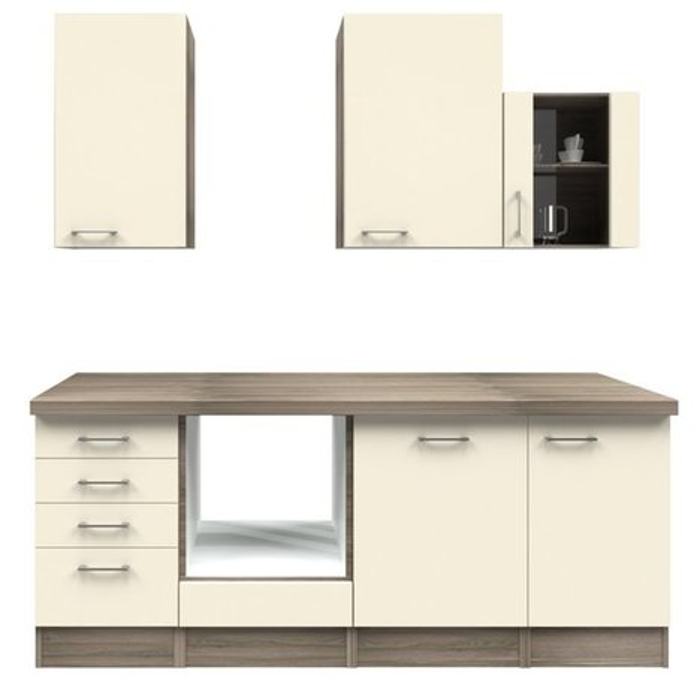 k chenblock eico magnolienwei tennessee eiche 220 cm k chenzeilen ohne e ger te. Black Bedroom Furniture Sets. Home Design Ideas