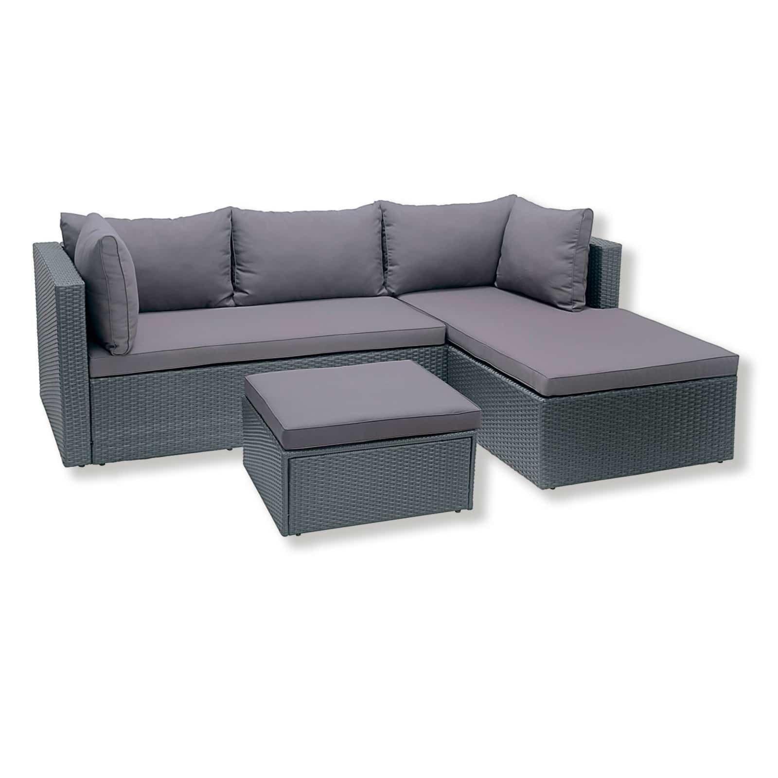 Gardiola Lounge Sitzgruppe - grau - inklusive Kissen   Garten ...