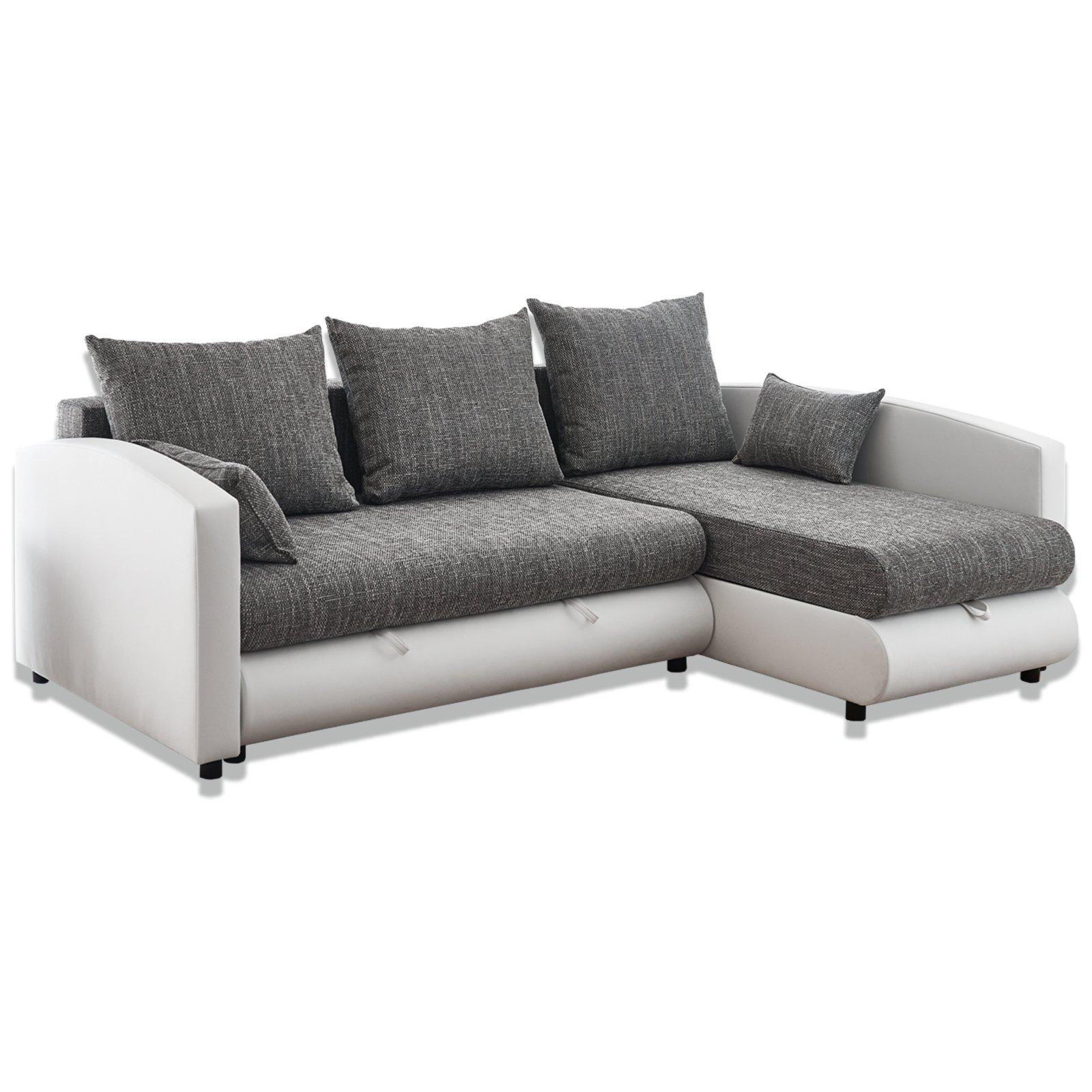 Bezaubernd Sofa Weiß Grau Das Beste Von Ecksofa - Weiß-grau - Mit Liegefunktion