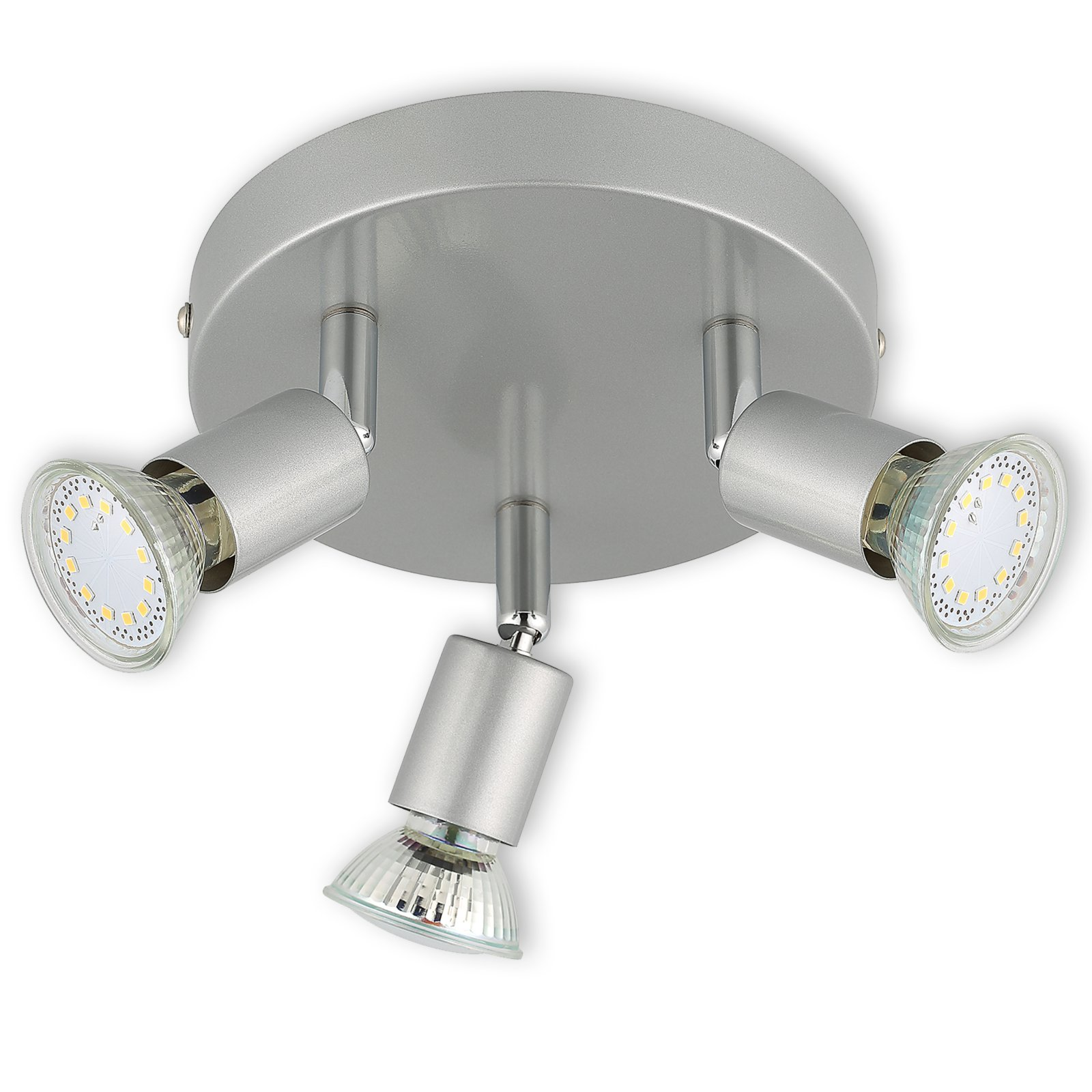 Led spotrondell mysterio titan 3 flammig warmwei for Lampen roller