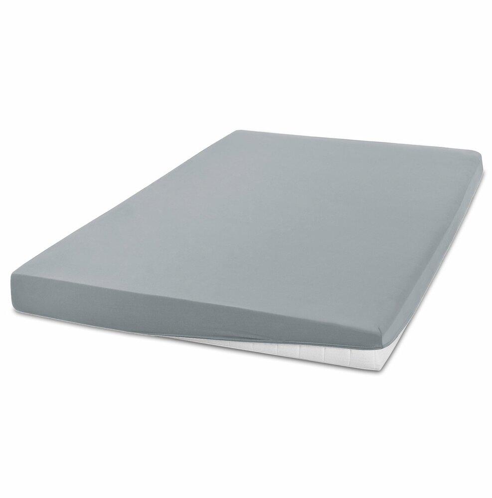 elastic jersey spannbettlaken exclusiv silber 180x200 cm bettlaken bettw sche. Black Bedroom Furniture Sets. Home Design Ideas