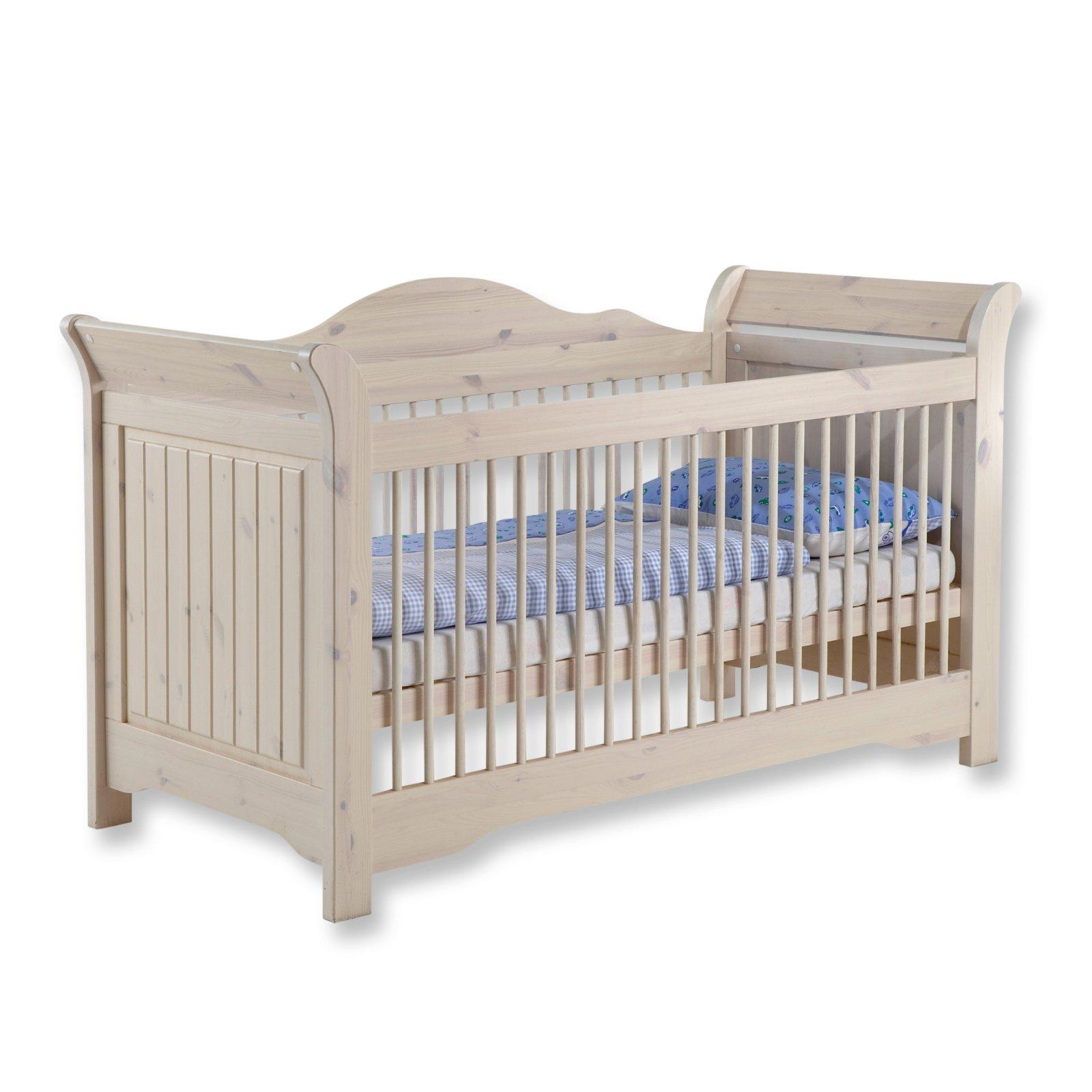 babybett lotta kiefer massiv landhaus wei baby und kinderzimmer lotta babyzimmer. Black Bedroom Furniture Sets. Home Design Ideas