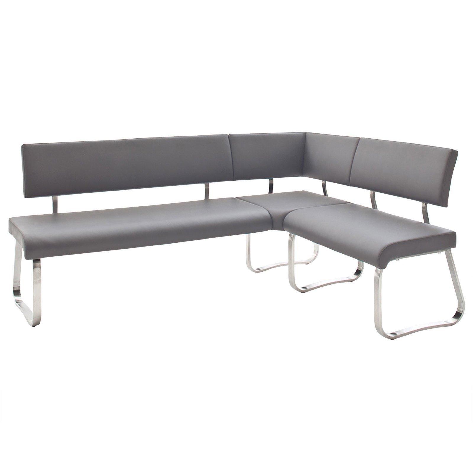eckbank arco grau kunstleder 200x150 cm eckb nke b nke m bel roller m belhaus. Black Bedroom Furniture Sets. Home Design Ideas