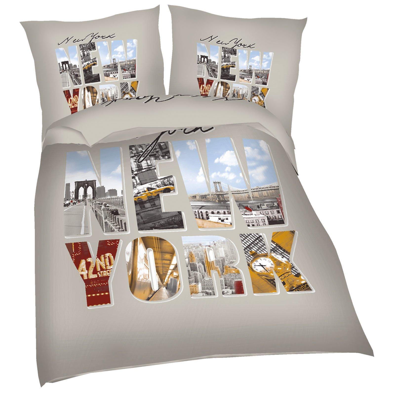 microfaser bettw sche new york city fotodruck 135x200 cm bettw sche bettw sche. Black Bedroom Furniture Sets. Home Design Ideas