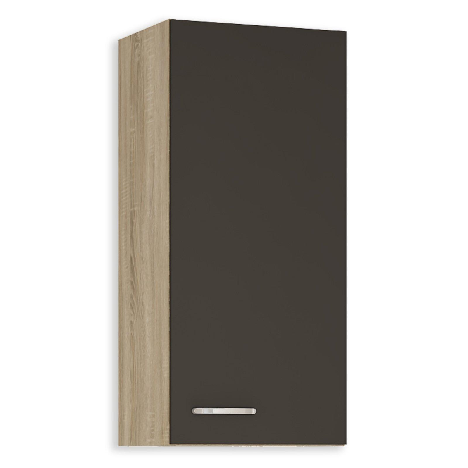 oberschrank fox anthrazit sonoma eiche 40x89 cm. Black Bedroom Furniture Sets. Home Design Ideas